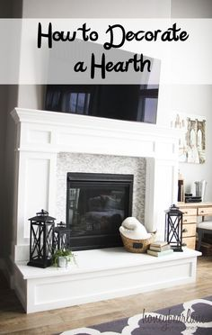 How to Decorate a Hearth. Everyone loves decorating their mantels but what do you do if you have a hearth? Read this post and find out how to decorate a hearth! Fireplace Hearth Decor, Home Fireplace, Fireplace Design, Fireplace Mantle Decor, Fireplace Remodel, Fireplace Makeover, Home Decor, Hearth Room, Fireplace Hearth