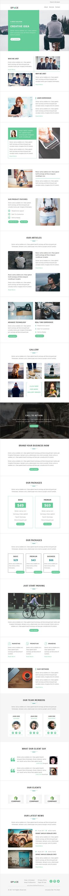 Newsletter Email Template  Freebies    Template