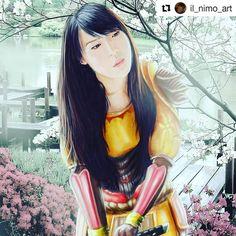This Amaterasu fan art is so life-like and beautiful! Artist: @il_nimo_art #smitegame