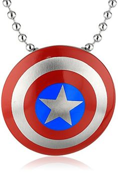 Marvel Comics Unisex Captain America… Necklaces With Meaning 5f10a5b9683