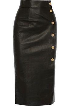 Tamara Mellon Double-faced leather wrap skirt | NET-A-PORTER