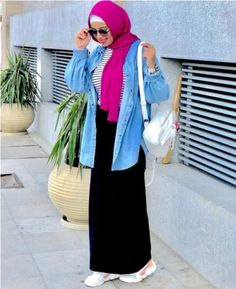 Fresh hijab outfit ideas – Just Trendy Girls Muslim Fashion, Modest Fashion, Hijab Fashion, Fashion Outfits, Fashion Styles, Fashion Ideas, Modest Dresses, Modest Outfits, Modest Clothing