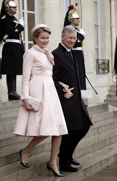 MYROYALS &HOLLYWOOD FASHİON: King Philippe and Queen Mathilde on their visit to France, February 6, 2014