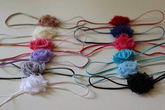 Mini Headband Set Mini Shabby Flower Set  by SweetPeasandMamaBees, $10.50
