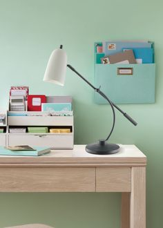 Brighten your office with the Martha Stewart Home Office Blair Lamp available at Staples #marthastewarthomeoffice