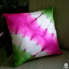"Umoya | Orchids – Silk Shibori Cushion Cover (12""/12"") / Rs.400"
