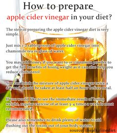 I:ve heard drinking Apple cider vinegar aids in loosing weight but this photo mentions drinking it 1/2 hr before meals and....