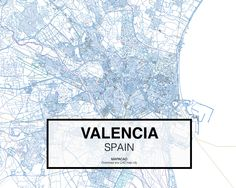 Valencia - Spain. Download CAD Map city in dwg ready to use in Autocad. www.mapacad.com