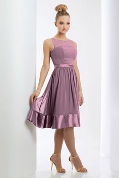 Bridesmaid dress - casual enough for a summer wedding, can easily move around and be comfortable all day. either rose or raspberry color.