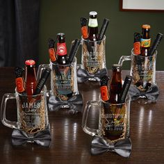 Classic Groomsman Personalized Beer Mugs & Bottle Openers – .- Classic Groomsman Personalized Beer Mugs & Bottle Openers – 5 Groomsmen Gift Sets - Personalized Beer Mugs, Personalized Bottle Opener, Personalized Wedding, Bullet Bottle Opener, Bottle Openers, 5 Gifts, Best Gifts, Wine Gift Baskets, Basket Gift