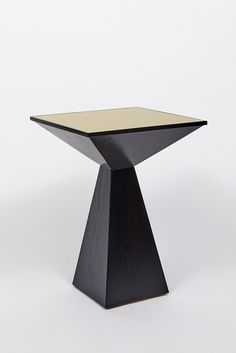 Mesa Table in Brass and Oak  by Lawson-Fenning