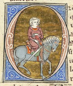 Initial O   Lancelot du Lac   Northeastern France, perhaps in Saint-Quentin or Laon   between 1310 and 1315   The Morgan Library & Museum