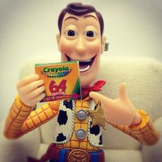 I love crayons too, Woody!