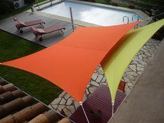 Cet été, soyez tendance sur votre terrasse ! #ombrage #soleil Sun Sail Shade, Balcony Deck, Design Jardin, Backyard Patio Designs, Balconies, Garden Planning, Outdoor Furniture, Outdoor Decor, Sun Lounger