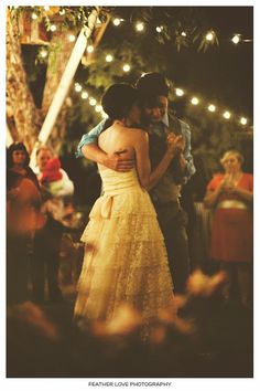 The first dance. I can't wait to have this moment!