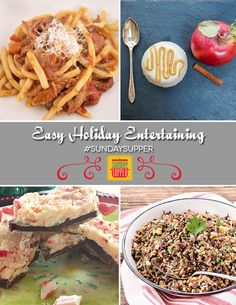 Recipes for Easy Holiday Entertaining #SundaySupper