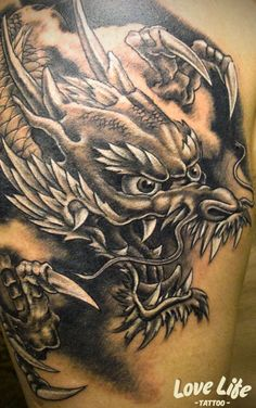 japanese tattoos meaning Koi Dragon Tattoo, Dragon Tattoo Drawing, Dragon Sleeve Tattoos, Japanese Dragon Tattoos, Japanese Tattoo Art, Japanese Tattoo Designs, Japanese Sleeve Tattoos, Dragon Tattoo Designs, Love Life Tattoo