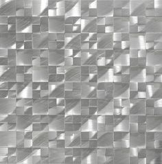 "Aluminum Mosaic Tile 3D Raised Multi Pattern is mesh mounted on a 12""x12"" sheet for an easy installation. Made out 100% aluminum, this mosaic tile is suitable for kitchen backsplash, bathroom wall (not shower), and feature wall."
