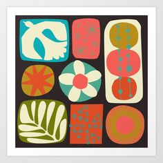 Modern Patchwork Art Print by Jan Avellana - $18.00