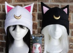 Que lindas gorras de los gatos de Sailor Moon