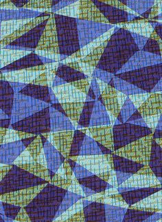 Retro triangle pattern - drawn, collage and digital  by Sarah Bagshaw
