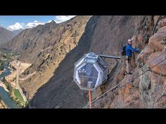El hotel en Perú donde puedes dormir colgando de un precipicio | El Noticiero | TC Mi Canal