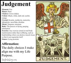 Holistic Tarot Correspondences for Judgement