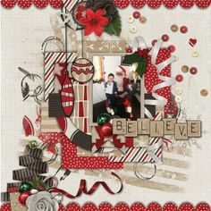 Layout using Hello Christmas! by Created by Jill Scraps http://store.gingerscraps.net/Hello-Christmas-Kit.html