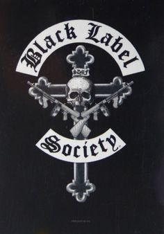 Official Zakk Wylde Black Label Society Crucifix Logo Textile Poster Flag measuring approx 75cm x 110cm Larger than a normal poster and printed on