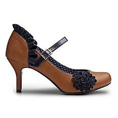 Joe Browns - Tan so cute corsage shoes