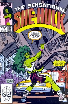 The Sensational She-Hulk n°10, January 1990, cover by Rick Leonardi