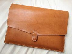 Personalized 13 Macbook Pro / Macbook Air Case Leather by harlex Macbook Air, Macbook Pro Case, Laptop Cases, Leather Laptop Case, Leather Pouch, Tan Leather, Leather Portfolio, Beautiful Bags, Clutch Wallet