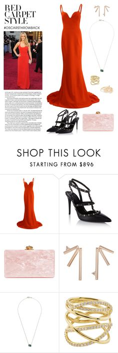 """Red Carpet Style: Oscars Throwback"" by windrasiregar on Polyvore featuring STELLA McCARTNEY, Valentino, Edie Parker, Eva Fehren, Monique Péan, Lana and Kate Spade"