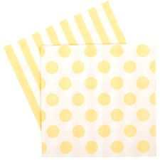 You can't go past styling a party without the necessary napkins for your little guests. Beautifully designed and printed with stripes on one side and polka dots on the other,...