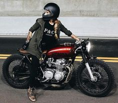 www.oldschoolbikes.tumblr.com vintage females on motorcycle honda bobber