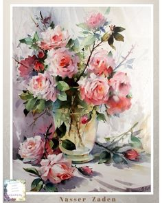Super painting watercolor flowers step by step 44 ideas Art Painting, Rose Painting, Floral Painting, Art Drawings, Watercolor Rose, Floral Art, Art, Beautiful Art, Floral Watercolor