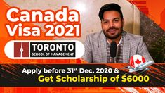 Canada Visa 2021 | Get $6000 Scholarship till 31st Dec. Best University, Toronto, Management, How To Apply, Canada, Student, School, Youtube, Youtubers