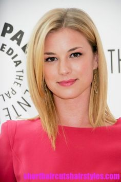 Cute haircut! ... and I love Emily VanCamp