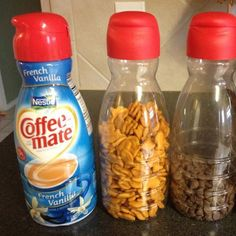 great use for empty coffeemate bottles