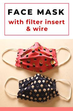 face mask with filter pocket pattern Simple face mask sewing with wire and filter insert opening Sewing Patterns Free, Free Sewing, Sewing Tutorials, Sewing Hacks, Hand Sewing, Free Pattern, Sewing Tips, Pattern Sewing, Simple Sewing Projects