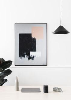 Monochrome Painting, Geometric Painting, Geometric Shapes, Abstract, Minimalist Painting, Minimalist Art, Black And White Interior, Palette Knife, Modern Wall Art