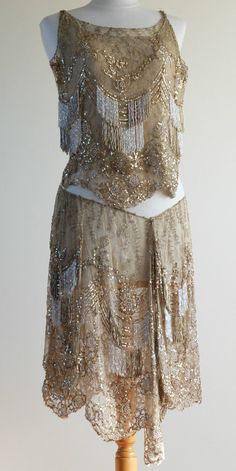RARE 1920s Gold Art Deco Flapper Dress Dance Costume Showgirl Burlesque | eBay натуральный золотой