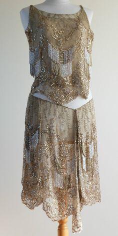 RARE 1920s Gold Art Deco Flapper Dress Dance Costume Showgirl Burlesque | eBay натуральный золотой