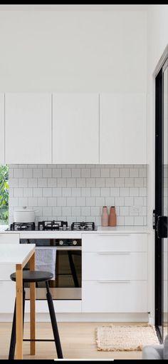 Square tiled splash back Tiles, Kitchen Cabinets, House Design, Furniture, Home Decor, Room Tiles, Decoration Home, Room Decor, Tile