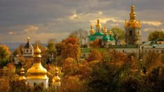 Lavra (Kiev Monastery of the Caves) Eslava, Taj Mahal, Places To Visit, Building, Plants, Painting, Travel, Kiev Ukraine, Landscaping