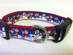 Charlie Brown Christmas Dog Collar by PolkaDotTails on Etsy, $11.00