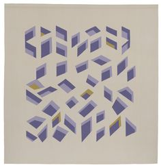 Anni Albers - Floating wall hanging for AT&T building, 1984 wool 98 × 93 in. Anni Albers, Josef Albers, E Design, Pattern Design, Bauhaus Textiles, Wassily Kandinsky, Textile Artists, Identity Design, Designs To Draw