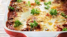 Kesäkurpitsamoussaka ja hyydytetyt munat - K-ruoka