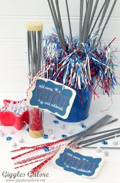 Patriotic Craft Idea DIY Confetti Poppers by Polka Dotted Blue Jay on Love the Day