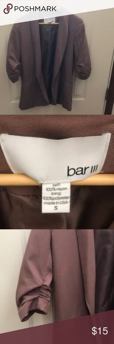NWT! Toffee brown blazer Be a show stopper in the office or a day on the town with this awesome blazer. Bar III Jackets & Coats Blazers